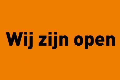 Nieuws - wij zijn open